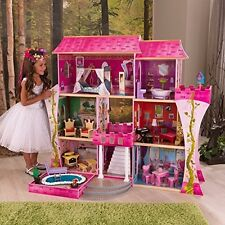 KidKraft Princess Dollhouse Wooden Doll House Barbie Size Furniture Girls Play
