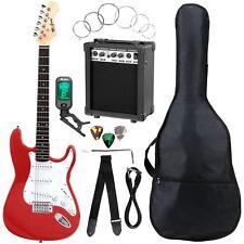 E-Gitarre Komplett Set Verstärker Stimmgerät Tuner Gigbag Tasche rot Fiesta Red