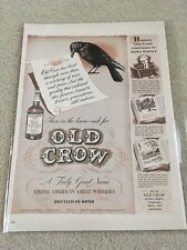 Vintage 1942 Old Crow Whiskey Ad