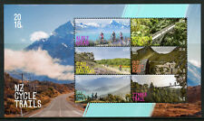 New Zealand NZ 2018 MNH Cycle Trails 6v M/S Cycling Bridges Mountains Stamps