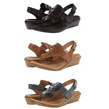 Born Womens Karis Comfort Thong Ankle Strap Slingback Wedges Sandals Shoes