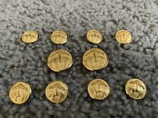 Brooks Brothers - Complete set 10 Gold Blazer Suit Jacket Replacement Buttons