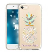 Coque Iphone 7 8 ananas aztec summer tropical exotique transparente