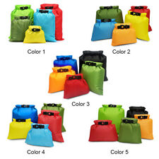 5 PCS Waterproof Bag Set Roll Top Storage Dry Sack Outdoor Travel Camping Pouch