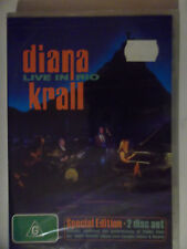 DIANNA KRALL LIVE IN RIO ( 2 X DVDS , 2009 ) SEALED /  SPECIAL EDITION