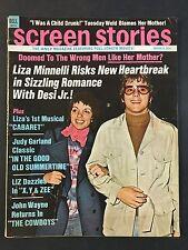 March 1972  Screen Stories Magazine  Liza Minenelli and Desi Jr.