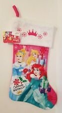 Disney Princess Ariel, Cinderella, and Aurora Holiday Christmas Stocking, NEW