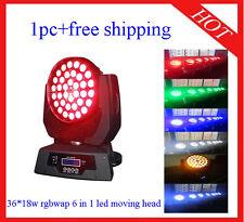 1pc 36*18W RGBWA+UV Led Moving Head Zoom Light Led Wash DJ Light Free Shipping