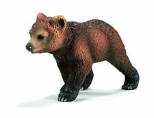 GRIZZLY BEAR CUB by Schleich; toy/ 14324/ New with tag/ RETIRED
