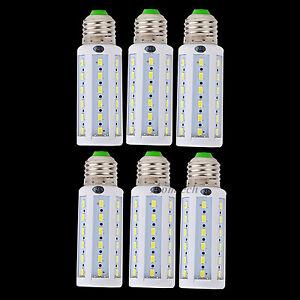 Bright 9W E26 E27 LED Corn Bulb Light Lamp 12V DC Cool White Lighting 6PCs/Lot