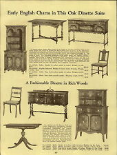 1937 PAPER AD All Wood Early English Dining Room Dinette Suite Charles Stuart