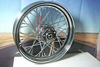 """40 Spoke 16"""" Chrome Fr Wheel 16 x 3 Inner Tube For Harley 7-1/4"""" Hub Width  X5"""