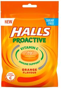 Halls Proactive Vitamin C Immune Support Orange Sweets 24 x 65g Dated 8/8/21
