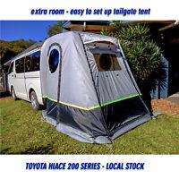 RV tailgate rear tent + floor 3 doors campervan Toyota HIACE LWB shade annex VAN