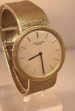 Patek Philippe Calatrava Yellow Gold Bracelet Silver Dial Men's Watch 3520DJ/1!!