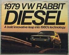VOLKSWAGEN RABBIT DIESEL USA Car Sales Brochure 1979 #63-17-96120