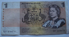 1976? Australia 1 Dollar Bank Note, Knight-Wheeler Signatures In Good Condition