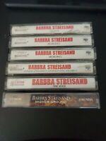 Lot Of 6 Vintage Barbara Streisand Cassettes