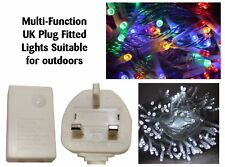 MAINS Powered LED Indoor OUTDOOR CHRISTMAS Tree Lights Xmas String Fairy UK