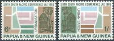 Papua Neuguinea - 6. Südpazifik-Konferenz Satz postfrisch 1965 Mi. 78-79