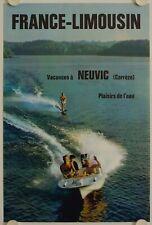 Affiche Tourisme France LIMOUSIN Vacances à NEUVIC Corrèze