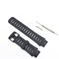 Elastomer Black Rubber Strap band bracelet 2 pin+tool fits SUUNTO X LANDER watch