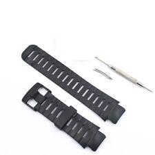 Negro de goma elastómero Banda Correa Pulsera 2 Pin + herramienta encaja SUUNTO X Lander Reloj
