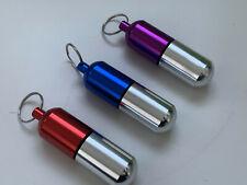 Pillendose Schlüsselanhänger Anhänger Tablettendose wasserdicht Farbw. 10x 2,5cm