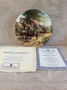 Making the Hayrick - Wedgwood Collector Plate - Country Days series - 1992 5056X