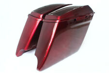 "Velocity red sunglo c 4.5""Cutout Extended Saddlebag for 2014-2017 harley touring"