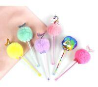 Unicorn Plush Gel Pens Kawaii School Office Supplies Stationery Gel Ink Gift Bts