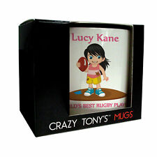 Rugby Gifts For Ladies And Girls, Female Rugby Presents, Crazy Tony's, Rugby Mug