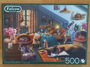 Falcon De Luxe Puzzle * Cats In The Attic * 500 Teile