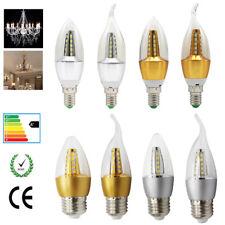 5W E14 E27 LED Luces Vintage Lámpara Vela Bombilla Fría Blanco Cálido AC220-240V