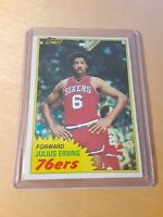 1981/82 Topps #30 JULIUS ERVING Philadelphia 76ers Basketball Card, Forward, HOF