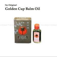 3cc Golden Cup Balm Oil Menthol Nasal Inhaler Relief Congestion