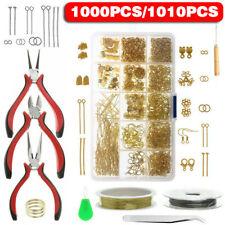 DIY Jewellery Making Kit Wire Findings Pliers Necklace Ring Repair Starter Tool