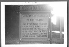 VINTAGE 1962 WECHES TEXAS MISSION SAN FRANCISCO OLD ROADSIDE HIGHWAY SIGN PHOTO