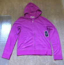 Juicy Couture Hoodie Zip Up Terry Jacket Violet Light Purple NWT XL Reg 98.00