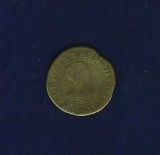 FRANCE NEUCHATEL FRENCH ROYAL COINS 1634 PRINCE HENRI II DOUBLE TOURNOIS COIN VF