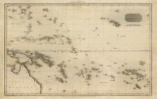 HUGE 1813 PINKERTON'S MAP OF POLYNESIA ISLANDS OLD ANTIQUE STYLE MAP art print