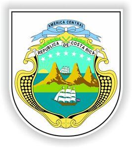Republica De Costa Rica Coat of Arms Escudo STICKER bumper pegatina car laptop