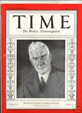 MAGAZINE TIME Henry P. Fletcher  NOVEMBER 9 1934
