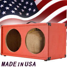 2x12 Guitar Speaker empty Cabinet Fire Hot Red Tolex Strait front shape