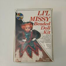 Vintage Li'l Missy Beaded Doll Kit GREEN LOLLY #13439 Holiday Ind., NEW RARE HTF