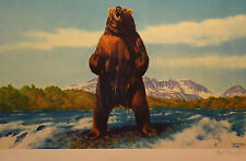 Fred Machetanz, Fishing Rights, S/N LE Lithograph, Hand Signed by Artist, Mint