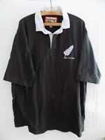 New Zealand All Blacks Rugby Union Shirt Retro Rare Top Jersey Mens Vintage CT