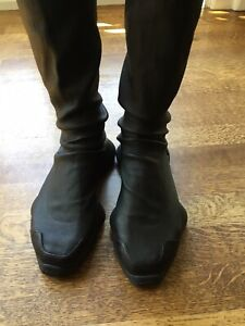 rick owens leather boots for women