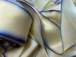 """Silk Ribbon 1.5"""" on the Bias Hand Dyed 1yd Made in USA Lilac Lupine"""