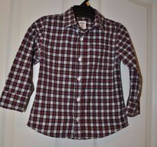 Old Navy Toddler Boys Plaid Holiday Dress Shirt Size 5T